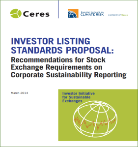 CERES investor listing standards proposal